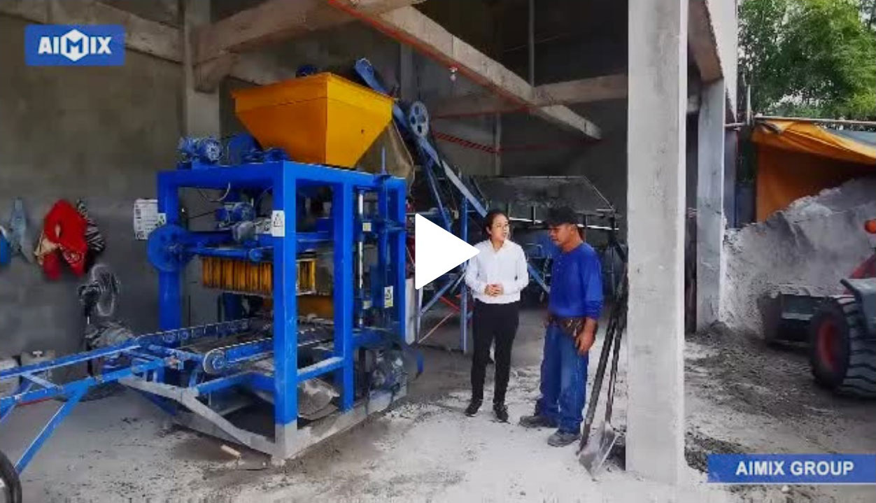 ABM4S Hollow Block Machine After-Sales Follow-Up In Rizal, The Philippines