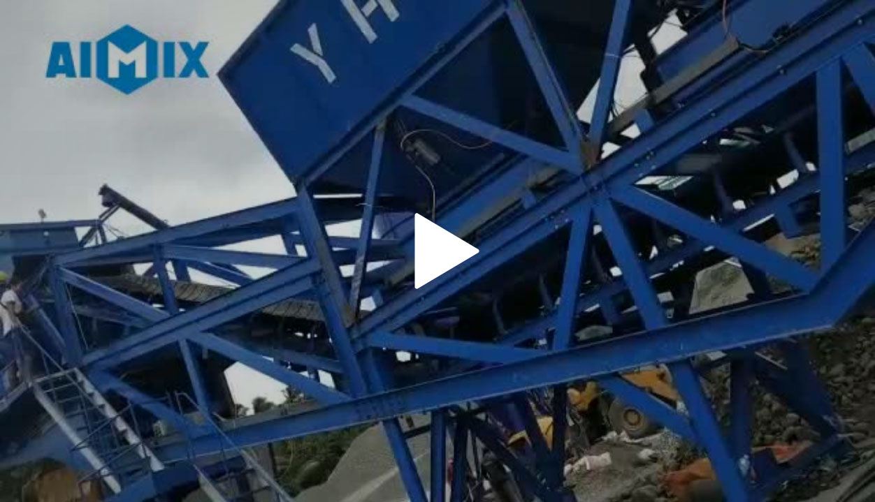 AJY60 Mobile Batching Plant Was Successfully Installed In The Philippines