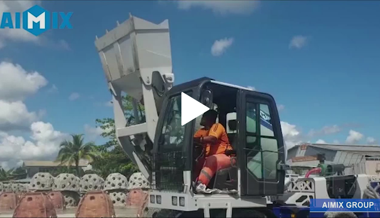 Self-loading Concrete Mixer Operation Video In Malaysia