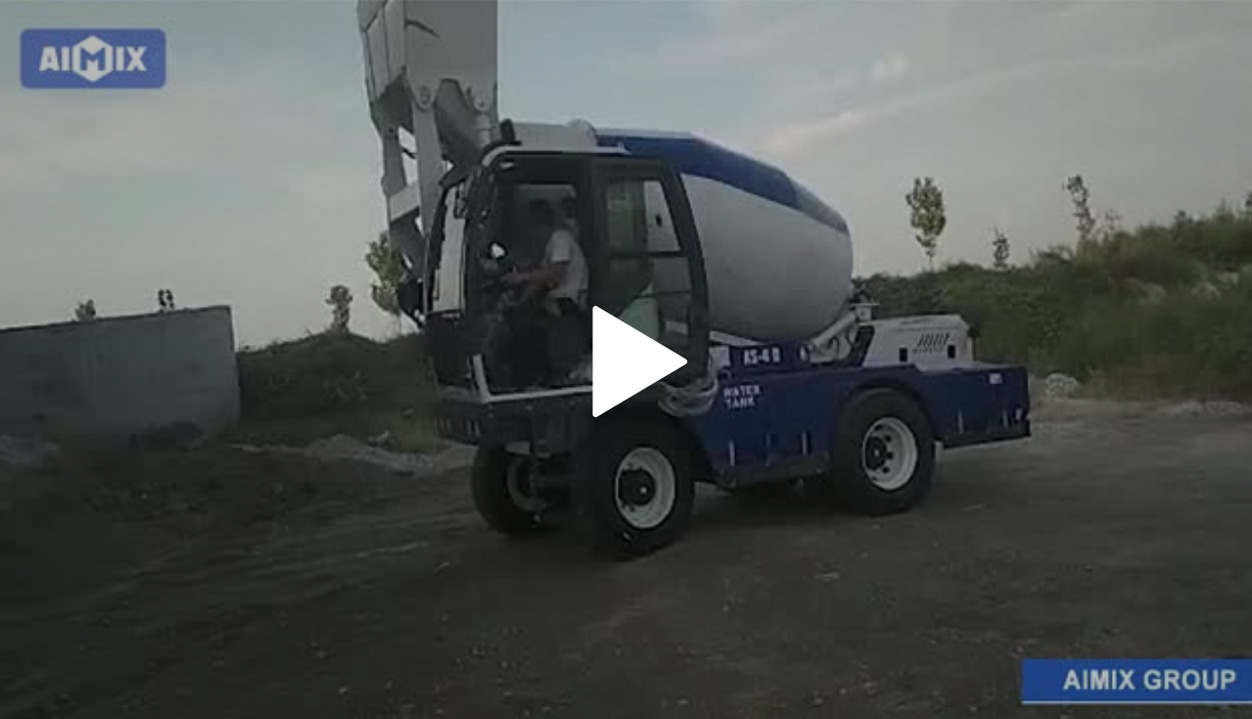 AS-4.0 Self-loading Mixer Truck Operation Test Before Export To Germany