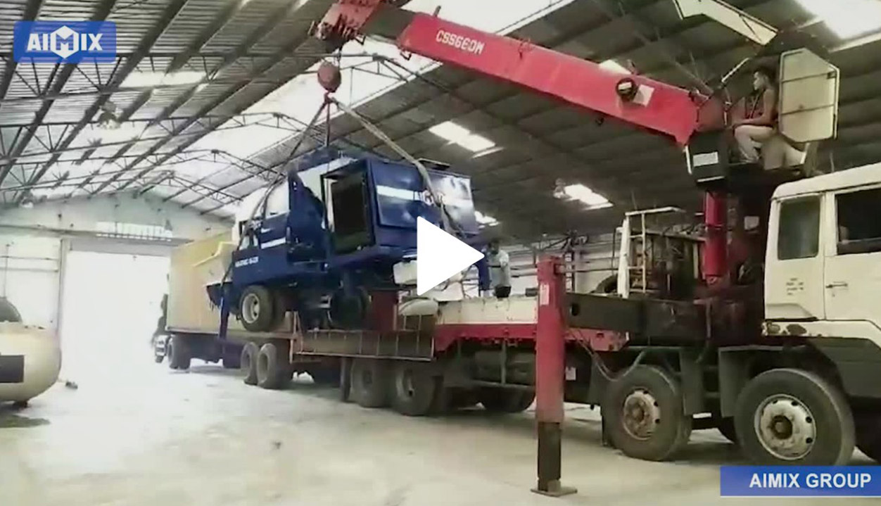 ABJZ40C Diesel Mixer With Pump Unloading On The Building Site In The Philippines