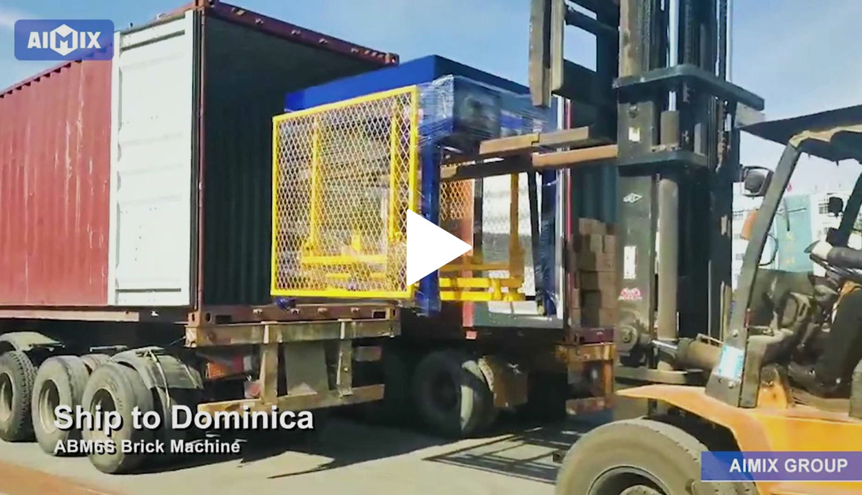 ABM-6S Block Making Machine Production Line Delivery To Dominica