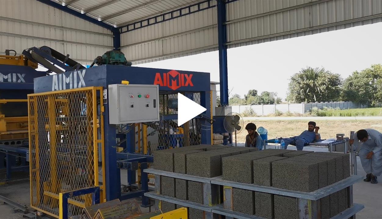 ABM-8S Brick Machine & AJ-25 Batching Plant Started Production In Pakistan