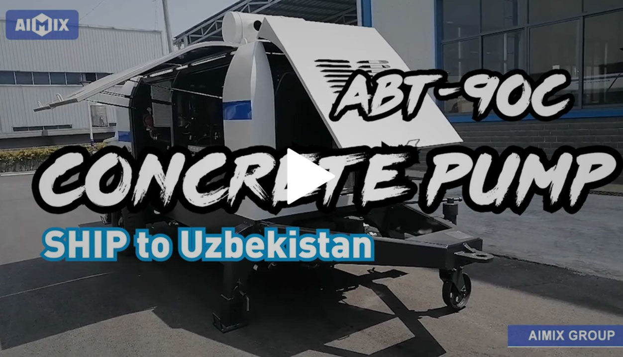 Details Shows of ABT90C Trailer Pump In The factory Before Shipping To UZ